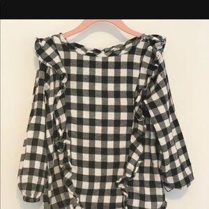 Old Navy Gingham Ruffle Top- Girls Size 10-12 LG